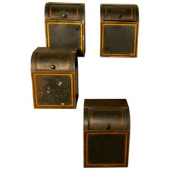 Set of Four 19th Century Tolewear Grocers Spice Canisters