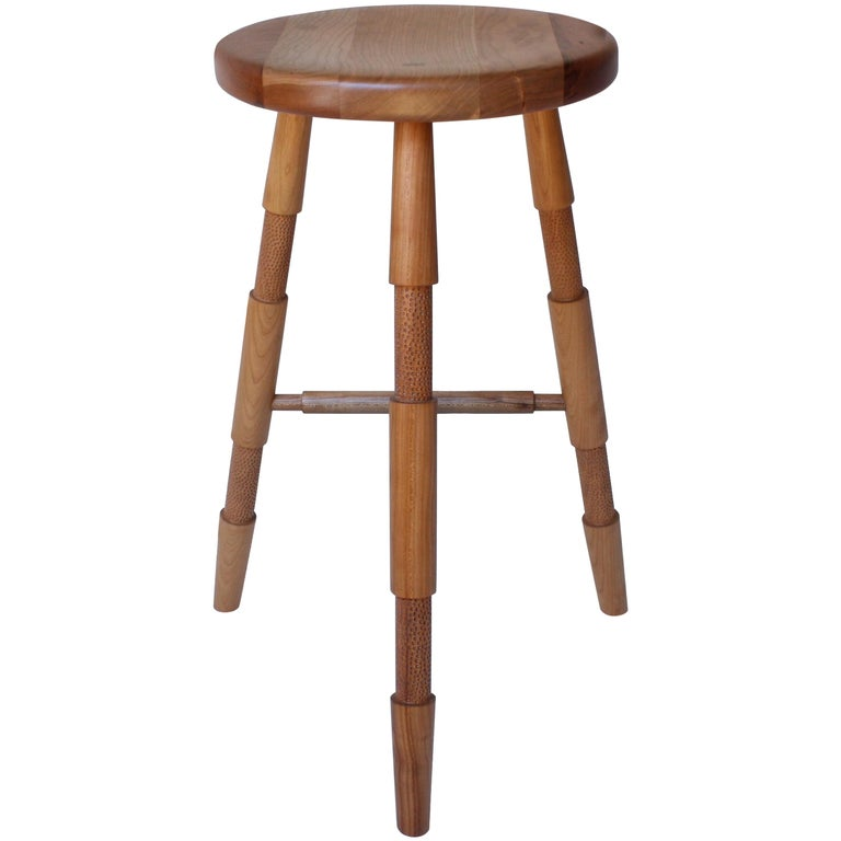 Saddle, Modern Wood Counter Stool or Bar Stool