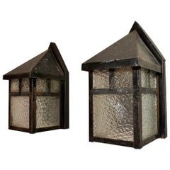 Pair of Art & Craft Outdoor Sconces