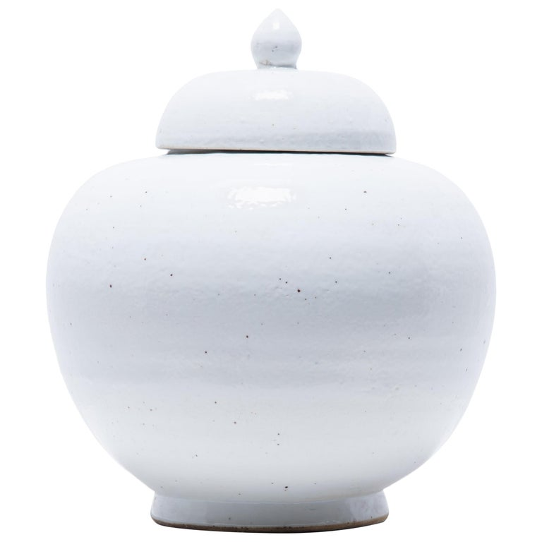 Chinese Cloud Onion Jar with Lid