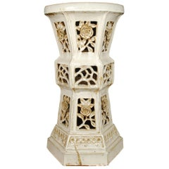Early 20th Century Chinese Floral Ceramic Pedestal