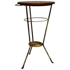 Oak and Wrought Iron Washstand