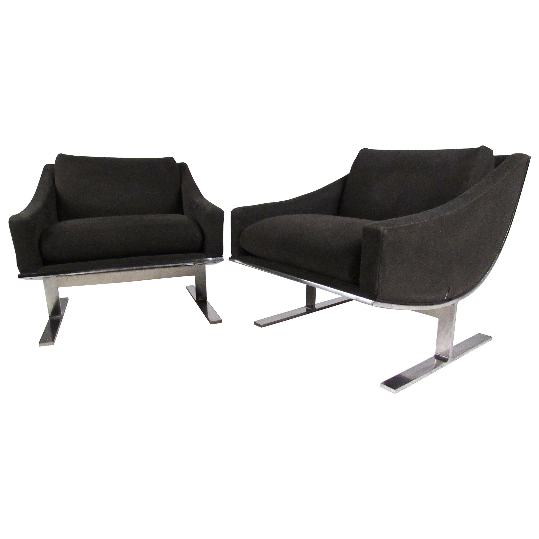 Kipp Stewart Modern Lounge Chairs by Directional