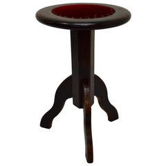 Walnut Adjustable Stool