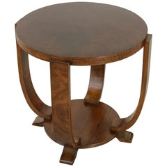 Early 20th Century French Art Deco Period Walnut Tulip Table, Side or End Table