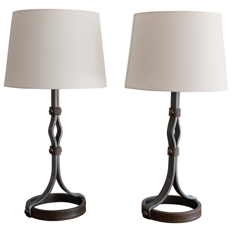 Pair of Jacques Adnet Table Lamps