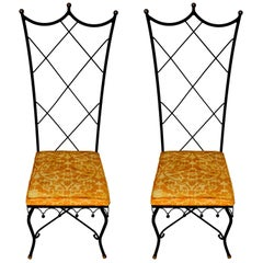 Pair of High Back Venetian Style Chairs by Samuel Copelon
