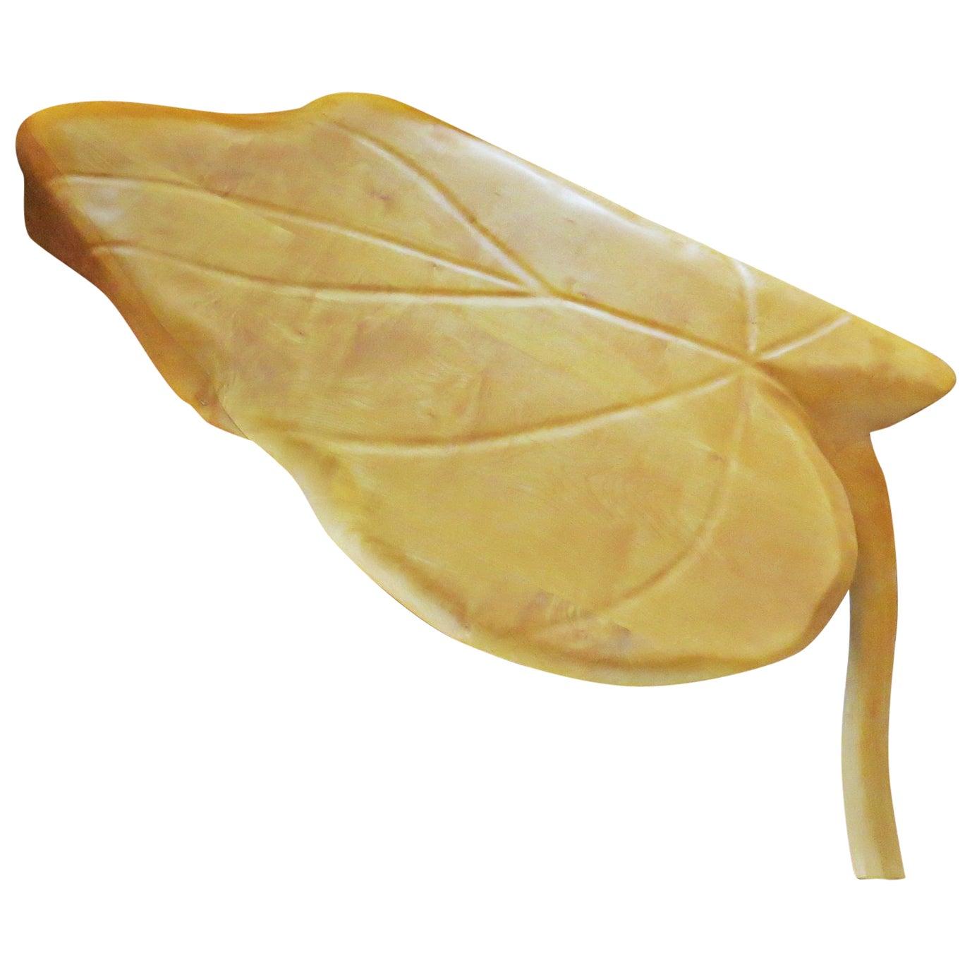 Coffee Table, Leaf Shape, Maple Solid Organic Shaped