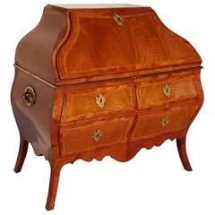 Rococo Secretaire Made of Softwood