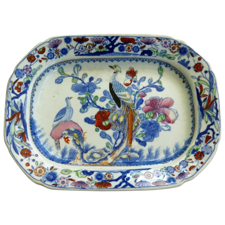 Very Early Mason's Ironstone Dish or Tray in Oriental Pheasant Pattern