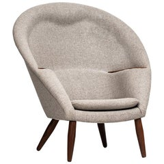 Nanna Ditzel Easy Chair Model Oda by Poul Kolds Savværk in Denmark
