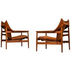 Hans Olsen Easy Chairs by Viska Möbler in Sweden