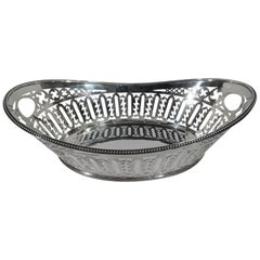 Large Bailey, Banks and Biddle Pierced Sterling Silver Basket Bowl