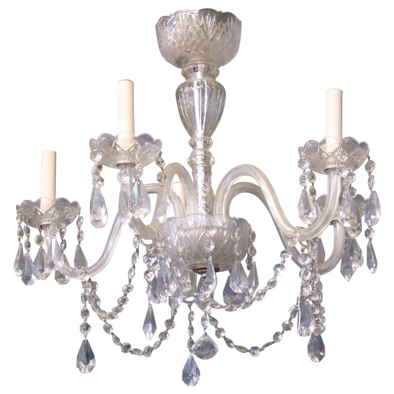 Neoclassical Style Five-Arm Crystal Chandelier