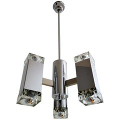 Italian Modernist Cube Pendant Lamp by Sciolari, 1960s
