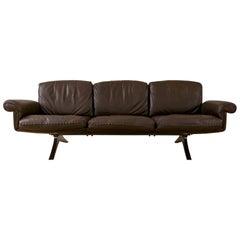 Midcentury De Sede DS31 3-Seat Sofa in Maroon Leather, 1970s