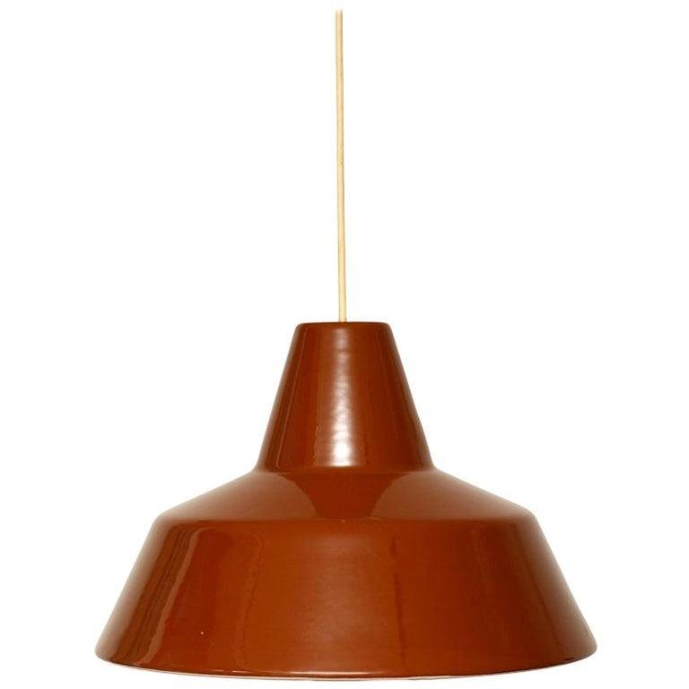Brown Danish Pendant Lamp from Louis Poulsen, Metal, 1960s