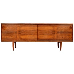 Rare Midcentury Rosewood Credenza by N.O. Moller M 20 for J.L. Mollers, Denmark