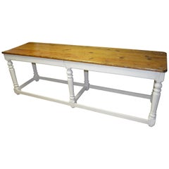 Kitchen Island Restaurant Prep from Rectory Table 100 Years Old. Ships Free.