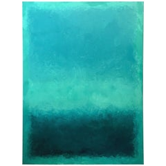 Blue Lagoon, Contemporary Color-Field Abstract by Benjamin Casiano