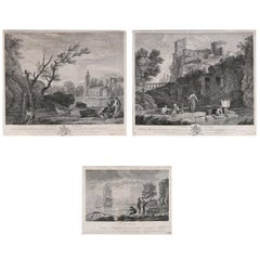 "Three French Joseph Vernet Genre Etchings from ""Veue D'italie"" Collection"