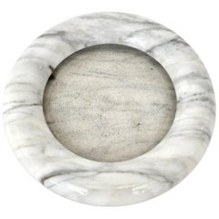 Up & Up White Marble Dish or Bowl by Egidio Di Rosa and Pier Alessandro Giusti