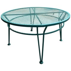 Mid-Century Modern John Salterini Newly Painted in Blue Patio Cocktail Table