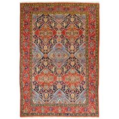 20th Century, Persian Wool Rug, Fine Tabriz Design, circa 1950