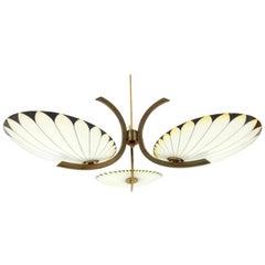 Art Deco Era French Palm Leaf Chandelier