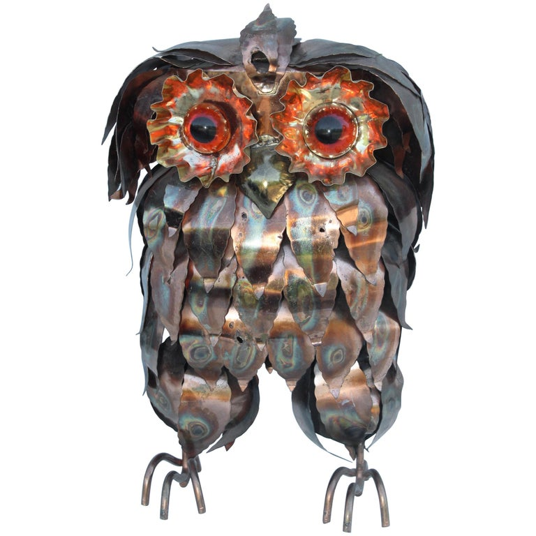 1960s Brutalist Owl Sculpture