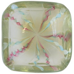 Midcentury Italian Fratelli Toso Murano Art Glass Bowl or Ashtray