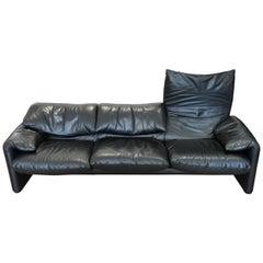 Maralunga Leather Sofa by Vico Magistretti for Cassina