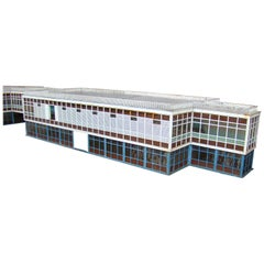 Ancient Brussels Airport Zaventem Model Made Up of 6 Lacquered Metal Builidings