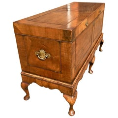 Walnut Blanket Chest   /   Trunk on Stand,    English, circa 1910