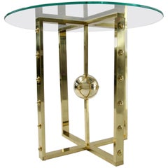 Atomo Table in Brass, Made in Italy