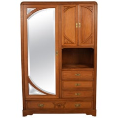 Italian Oak Art Nouveau Cabinet, circa 1910