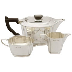 1936 Antique Sterling Silver Three-Piece Tea Service