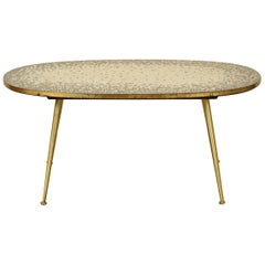 Mosaic and Brass Side Table in the Style of Berthold Muller by Ilse Möbel