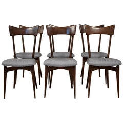 Set of Six Chairs by Ico Parisi for Colombo Cantu, Italy