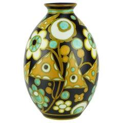 Art Deco Keramis Matt Boch Vase