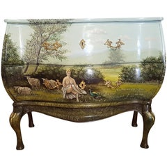 Old Commode with Landscape from 1930