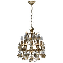 Italian Venetian Chandelier with 24-Karat Gold Embedded Murano Glass