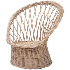 Vintage Rattan Chair from France