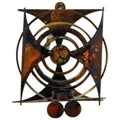Copper Ornament Tea Light Holder for Walls, Scandinavian