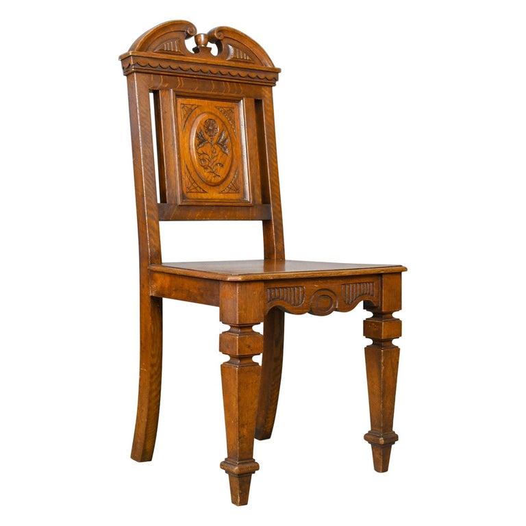 Antique Hall Chair, Oak, Scottish, 19th Century, circa 1870