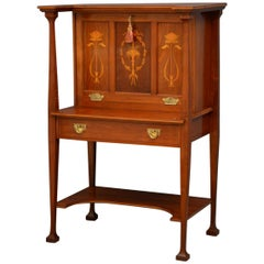 Arts & Crafts Walnut Bureau in the Manner of Shapland and Petter