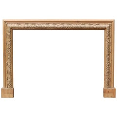 Antique Carved Pine Bolection Fire Surround
