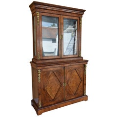 19th Century Victorian Burr Walnut Bookcase