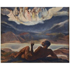 """Vision of Angels,"" Important Night-Time Scene, WPA Era, African American Artist"