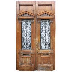 Pair of Grand Building Entrance Doors